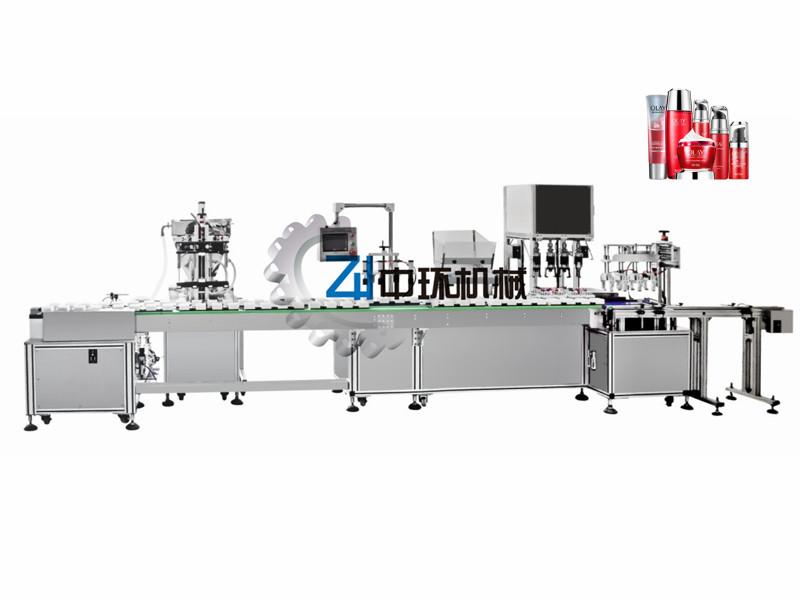 ZHSR-4C 四头水乳膏霜灌装旋盖一体机